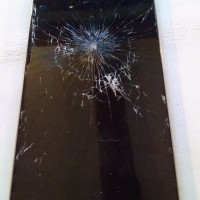 phone's cracked screen